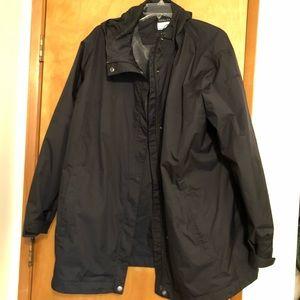 Hooded Columbia Rain Jacket 3x